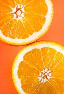 Free Two Half Oranges Royalty Free Stock Photography - 3975867