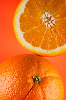 Free One Orange, One Half Orange Stock Photos - 3975873