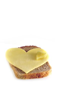 Free Sandwich With Heart Royalty Free Stock Image - 3976476