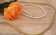 Free Rose And Pearls Stock Image - 3976651