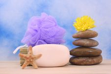 Soap And Stones Stock Images