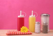 Free Mustard And Ketchup With Sugar Royalty Free Stock Photos - 3976758