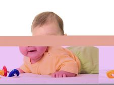 Free Baby With Toy Royalty Free Stock Photography - 3977917