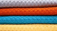 Free Multicolour Towels Rolls Close-up Royalty Free Stock Photography - 3978057