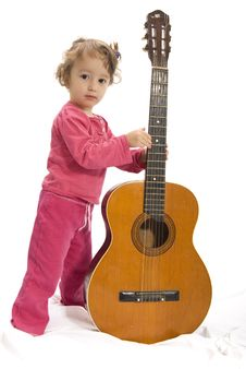 Free Girl With Guitar Royalty Free Stock Photo - 3978345