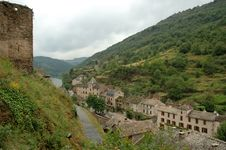 Brousse-le-Chateau - Aveyron Stock Photos