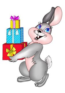 Free Hare With Gifts Stock Photo - 3979760