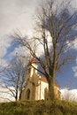 Free Church At The Top Royalty Free Stock Image - 3986316