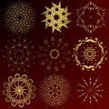 Free Collection Of Gold Winter Snowflakes Stock Photos - 3986763