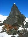 Free Fragment Of A Black Rock Stock Photos - 3987253