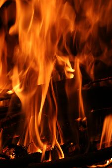 Free Fire Flames Vertical Stock Photo - 3980240