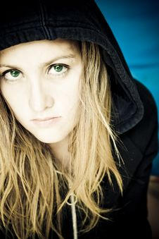 Free Green Eyes Woman Stock Photo - 3980480