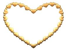 The Heart Made Of Small Gold Hearts Stock Images
