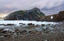 Free Storm At Gaztelugatxe Royalty Free Stock Photos - 3980678