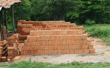 Free Brick Making Royalty Free Stock Image - 3981006