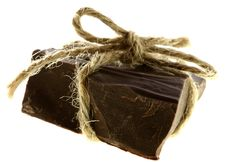Thick Piece Of CHOKOLATE Tied Royalty Free Stock Images