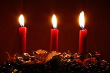 Free Three Candles Royalty Free Stock Photo - 3982175