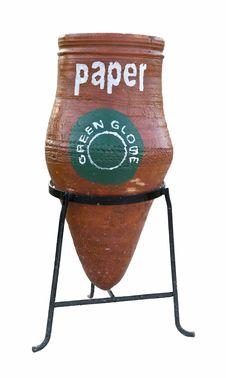 Free Garbage Bin For Separate Paper Royalty Free Stock Image - 3982626