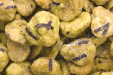 Free Wasabi Beans Royalty Free Stock Images - 3982749