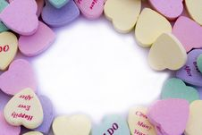 Free Candy Hearts Border Royalty Free Stock Images - 3983129