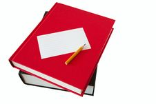 Free Books, Pencil And Notepaper Stock Photo - 3983460