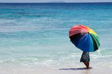 Free Girl With Umbrella Stock Image - 3983541