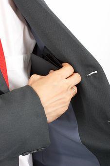 Suit Pocket Stock Image