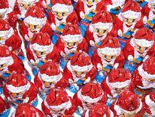 Santa Claus Figures Stock Photography