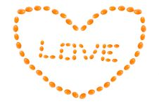 Free Mandarine Heart Stock Photos - 3985883