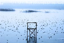 Free Chair On Frozen Lake Royalty Free Stock Image - 3986566