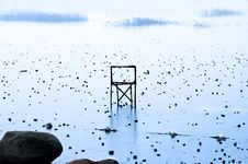 Free Chair On Frozen Lake Royalty Free Stock Photos - 3986578