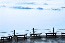 Free Chairs On The Lake Shore Royalty Free Stock Image - 3986586