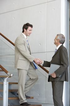 Free Two Businessmen Shaking Hands Stock Photo - 3986890