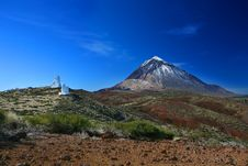 Observatory Teide Royalty Free Stock Photography