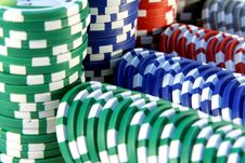 Free Casino Chips Royalty Free Stock Photography - 3986957