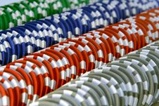 Free Casino Chips Royalty Free Stock Image - 3987036