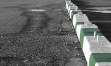 Free Concrete Barricades Royalty Free Stock Images - 3987199