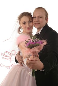 Free The Fiancee And Bridegroom At A Wedding Stock Photo - 3987600