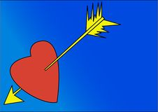 Free Heart With Arrow Stock Images - 3987904