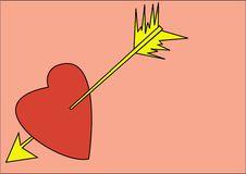 Free Heart With Arrow Royalty Free Stock Photos - 3987938