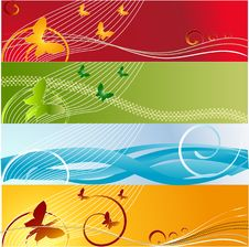 Free Baner Floral Background Stock Photos - 3987973