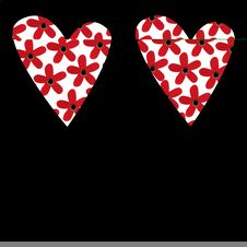 Free Two Valentine Hearts Royalty Free Stock Photo - 3989895