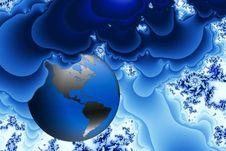 World Engulfed By Blue Smog Royalty Free Stock Photo
