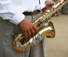 Free Sax Marcher Stock Photo - 3989940