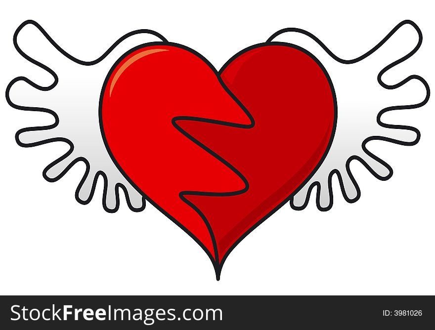 Flying Heart Symbol Free Stock Images Photos 3981026