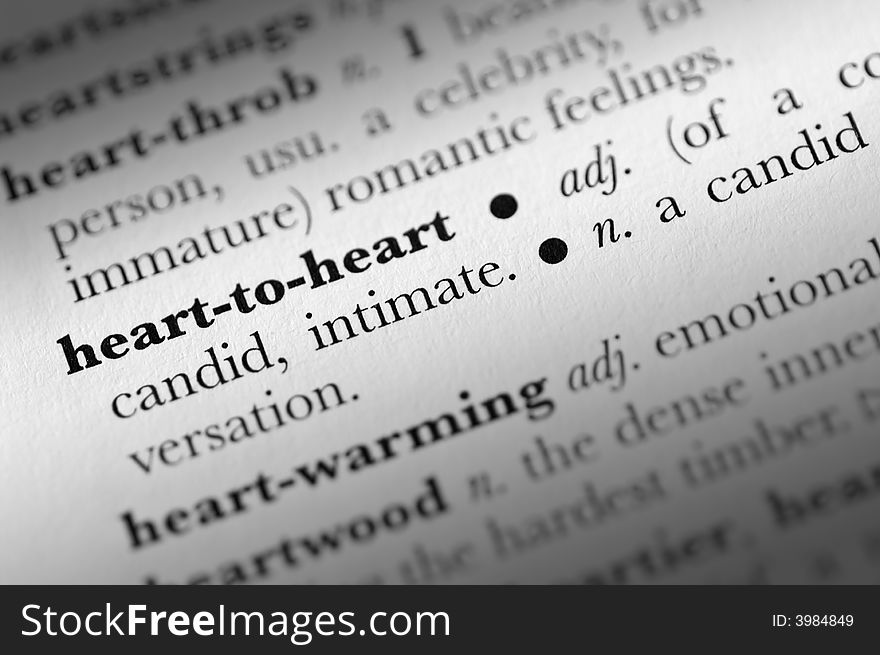 Heart-to-heart word dictionary