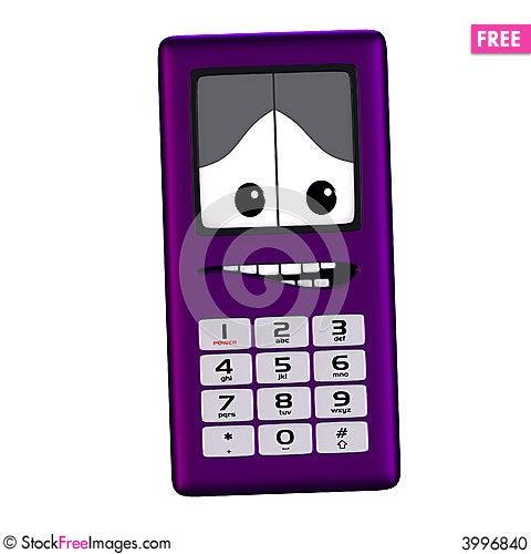 Free Cartoon Cell Phone Stock Photo - 3996840