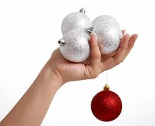 Free Christmas Balls Stock Photography - 3990722