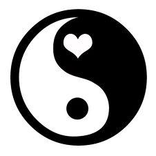 Free Yin Yang With Heart Royalty Free Stock Photography - 3991377