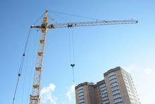 Free Building Tower Crane Royalty Free Stock Photo - 3991635